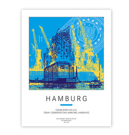 ART-DOMINO® BY SABINE WELZ PLAKAT - HAMBURG