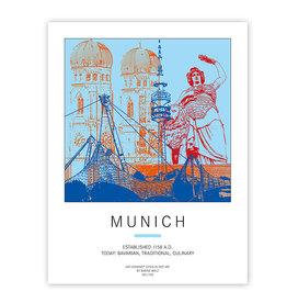 ART-DOMINO® BY SABINE WELZ POSTER - MUNICH