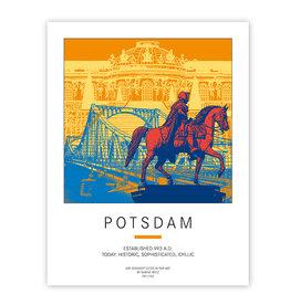ART-DOMINO® BY SABINE WELZ POSTER - POTSDAM