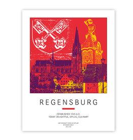 ART-DOMINO® BY SABINE WELZ POSTER - REGENSBURG