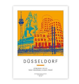 ART-DOMINO® BY SABINE WELZ POSTER - DÜSSELDORF