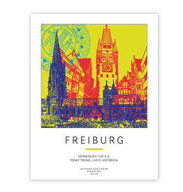 ART-DOMINO® BY SABINE WELZ POSTER - FREIBURG