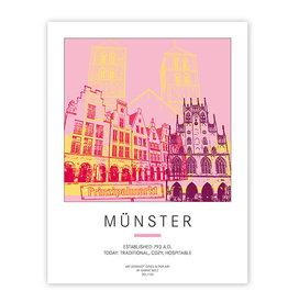 ART-DOMINO® BY SABINE WELZ POSTER - MÜNSTER