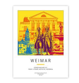ART-DOMINO® BY SABINE WELZ PLAKAT - WEIMAR
