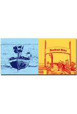 ART-DOMINO® BY SABINE WELZ Rügen - Boot am Strand von Binz + Seebrücke Binz