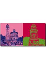 ART-DOMINO® BY SABINE WELZ Rügen - Kap Arkona - Neuer Leuchtturm und Schinkelturm + E.-M.-Arndt-Turm