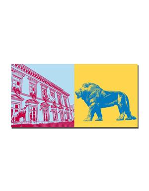 ART-DOMINO® BY SABINE WELZ Luxemburg - Rathaus + Wappenlöwe