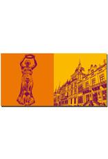 ART-DOMINO® BY SABINE WELZ Luxemburg - Goldene Frau + Herzögliches Palais und Abgeordnetenkammer