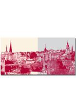 ART-DOMINO® BY SABINE WELZ Luxemburg - Skyline links + Skyline rechts