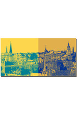 ART-DOMINO® BY SABINE WELZ Luxemburg - Skyline links + Skyline rechts - 2