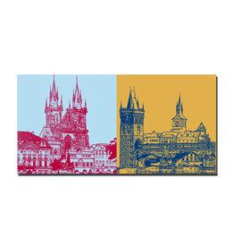 ART-DOMINO® BY SABINE WELZ Image sur toile - Prague - 99206