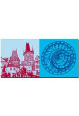 ART-DOMINO® BY SABINE WELZ Prag - Kleinseitner Brückenturm + Astronomische Uhr