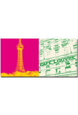 ART-DOMINO® BY SABINE WELZ Prag - Petrin Observation Tower + Cafe Louvre