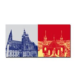 ART-DOMINO® BY SABINE WELZ Image sur toile - Prague - 99215