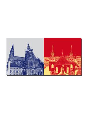 ART-DOMINO® BY SABINE WELZ Prag - Veitsdom - 1252 + Ausblick Prag/Anschnitt