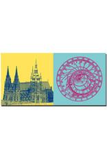 ART-DOMINO® BY SABINE WELZ Prag - Veitsdom - 1252 + Astronomische Uhr