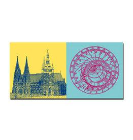 ART-DOMINO® BY SABINE WELZ Image sur toile - Prague - 99216