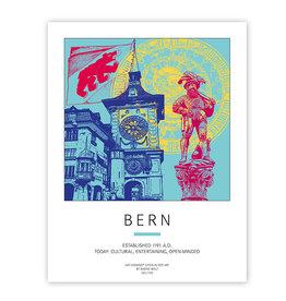 ART-DOMINO® BY SABINE WELZ AFFICHE - BERN
