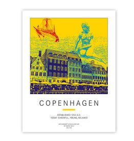 ART-DOMINO® BY SABINE WELZ POSTER - KOPENHAGEN
