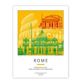 ART-DOMINO® BY SABINE WELZ AFFICHE - ROM