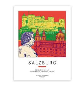 ART-DOMINO® BY SABINE WELZ AFFICHE - SALZBURG