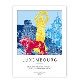 ART-DOMINO® BY SABINE WELZ POSTER - LUXEMBURG