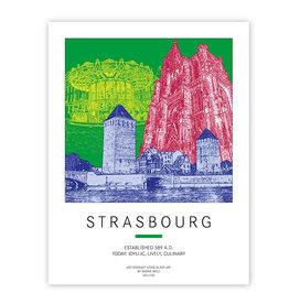 ART-DOMINO® BY SABINE WELZ AFFICHE - STRASSBURG