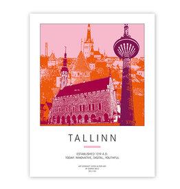 ART-DOMINO® BY SABINE WELZ AFFICHE - TALLINN