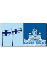 ART-DOMINO® BY SABINE WELZ Helsinki - Fahnen + Dom