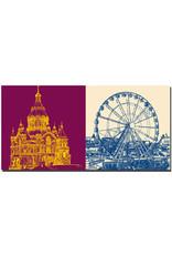 ART-DOMINO® BY SABINE WELZ Helsinki - Uspenski-Kathedrale + Skywheel