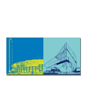 ART-DOMINO® BY SABINE WELZ Helsinki - Olympia Stadion + Oodi Zentralbibliothek