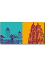 ART-DOMINO® BY SABINE WELZ Straßburg - Ponts couverts + Liebfrauenmünster