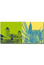 ART-DOMINO® BY SABINE WELZ Straßburg - Ponts couverts + Liebfrauenkirche, rue mercière