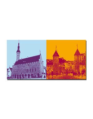 ART-DOMINO® BY SABINE WELZ Tallinn - Rathaus + Stadttor Viru