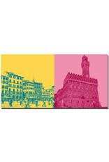 ART-DOMINO® BY SABINE WELZ Florenz - Piazza della Signoria + Palazzo Vecchio