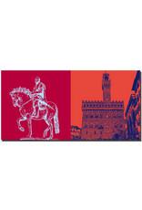 ART-DOMINO® BY SABINE WELZ Florenz - Reiterstatue Cosimo I. + Palazzo Vecchio