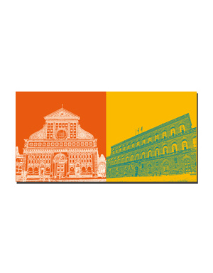ART-DOMINO® BY SABINE WELZ Florenz - Santa Maria Novella + Palazzo Pitti
