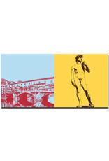 ART-DOMINO® BY SABINE WELZ Florenz - Ponte Vecchio + David