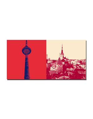 ART-DOMINO® BY SABINE WELZ Tallinn - Teletorn + Blick auf Altstadt