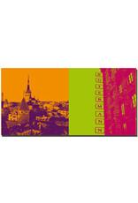 ART-DOMINO® BY SABINE WELZ Tallinn - Blick auf Altstadt + Rotermann city