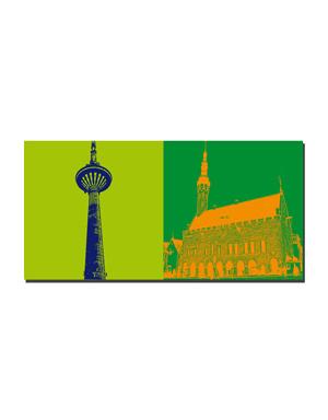 ART-DOMINO® BY SABINE WELZ Tallinn - Teletorn + Rathaus