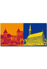ART-DOMINO® BY SABINE WELZ Tallinn - Stadttor Viru + Rathaus