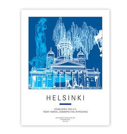 ART-DOMINO® BY SABINE WELZ PLAKAT - HELSINKI