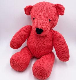 Kenana Knitters Teddy mandarin red organic GOTS cotton