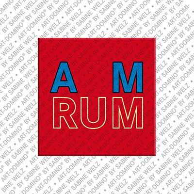 ART-DOMINO® BY SABINE WELZ Amrum – Schriftzug