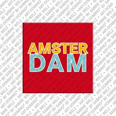 ART-DOMINO® BY SABINE WELZ Amsterdam – Schriftzug