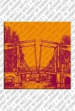 ART-DOMINO® BY SABINE WELZ Amsterdam – Magere Brug