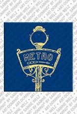 ART-DOMINO® BY SABINE WELZ Paris - Metro Schild
