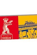 ART-DOMINO® BY SABINE WELZ Berlin - Berliner Bär und Brandenburger Tor