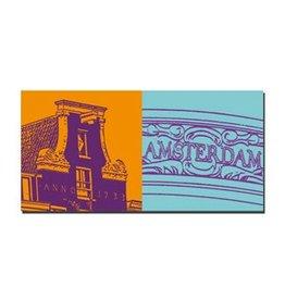 ART-DOMINO® BY SABINE WELZ LEINWANDBILD - AMSTERDAM - 4101